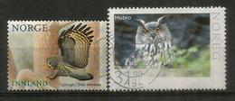 Hibou Grand-duc / Chouette Lapone De Norvège. 2 Timbres Oblitérés, 1 ère Qualité. Hautes Faciales - Hiboux & Chouettes