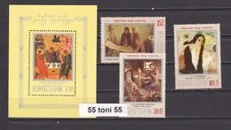 1988 Art Paintings Mi 5861/63+bl.203 3v.+S/S- MNH  USSR - Arte