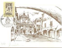 ITALIA - 1995 PIETRA LIGURE (SV) Rievocazione Storica Medioevale CONFUOCO (fuoco) Su Depliant Numerato E Firmato - Vacanze & Turismo