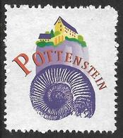 Allemagne / Germany (2002) Pottenstein : Ammonite Fossile Idoceras Fossil. Vignette / Label ; érinnophilie / Cinderella. - Fossilien