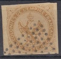 #135 COLONIES GENERALES N° 3 Oblitéré Losange De 81 Points (Inde) - Aigle Impérial