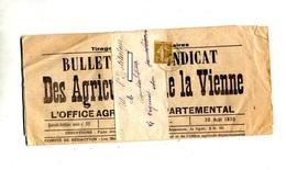 Journal Syndicat Agriculteurs Vienne  Cachet Laval Annexe C P N ° 2 Massacre !!! - Marcophilie (Lettres)