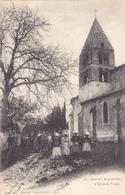 CPA 38 @ VARCES - L'Eglise - Groupe D'enfants Un Dimanche En 1904 - France