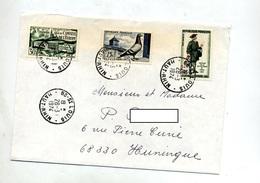 Lettre Cachet Saint Louis Sur Pigeon Conseil Europe Journee Timbre - Postmark Collection (Covers)