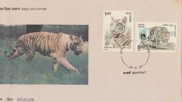 INDIA 1987 FDC Wildlife.BARGAIN.!! - Felini
