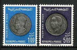 MAROC 1969 PA N° 117/118 ** Neufs MNH Superbes C 19 € Monnaies Nationales Dirham Mohamed V Hassan II - Maroc (1956-...)