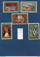 POLYNESIE FRANCAISE-N°98-102  Série-oeuvres D'artistes-- Polynésiens-Neufs Sans Char -TTB Cote 55 .8euros - Neufs