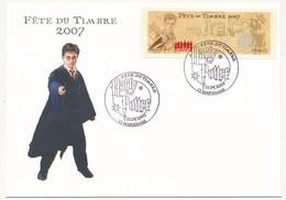 Enveloppe Etiquette EMA Illustrée Harry Potter 0,54 Eur - MARIGNANE - Fête Du Timbre 2007 10/3/2007 - Francia