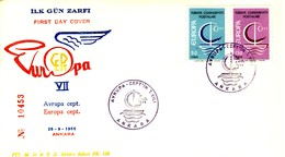 TURCHIA 1966 FDC Europa CEPT.+2 - 1921-... Repubblica