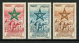 MAROC 1957 PA N° 103/105 ** Neufs MNH Superbes C 9 € Foire Internationale De Casablanca Avions Planes - Maroc (1956-...)