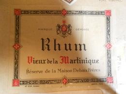 ETIQUETTE RHUM VIEUX DE LA MARTINIQUE - Etiquettes