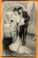 EGG994, Belle Fantaisie, Couple, Longue Robe, Précurseur, Circulée 1904 - Fancy Cards