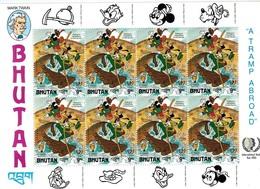 MWD-BK6-279 MINT PF/MNH ¤ BHUTAN 1985 8w In Serie ¤ GRIMM ¤ THE WORLD OF WALT DISNEY -- FRIENDS OF WALT DISNEY - Disney