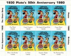 MWD-BK6-311 MINT PF/MNH ¤ GRENADA GRENADINES 1980 8w In Serie (RARE) ¤ THE WORLD OF WALT DISNEY FRIENDS OF WALT DISNEY - Disney