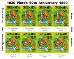 MWD-BK6-312 MINT PF/MNH ¤ GRENADA 1980 8w In Serie (RARE) ¤ THE WORLD OF WALT DISNEY FRIENDS OF WALT DISNEY - Disney