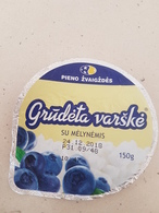 Lithuania Litauen Curd With Blueberries Top - Milk Tops (Milk Lids)