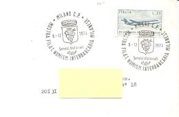 ITALIA - 1973 MILANO Mostra Fil. Num. Interbancaria - Stemma Con Biscione Su Busta Viaggiata - Enveloppes