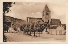 D89 - VAUX - PLACE DE L'EGLISE - Carte Sépia - Autres Communes