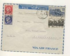 (C13) - Y&T N°373+375A+392+499 - LETTRE AVION MARSEILLE => USA 1941 - TARIF 1-10 GRS DU 01/01/1941 - Covers & Documents