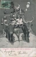 Cagliari Edit. Plantera Sebastiano 1904 Ritorno Da Una Festa In Campidano  Attelage Boeufs Alterocca Terni - Cagliari