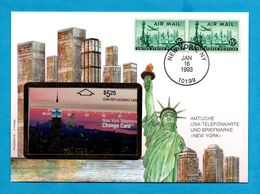 Phonecard In Envelope FDC  -  USA - Phonecards
