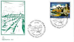 ITALIA - 1985 TERMOLI (CB) Lungomare Nella Città Vecchia Ann. Fdc Serie Turistica Su Busta Speciale - Vacanze & Turismo