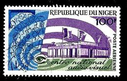 NIGER Aer73° 100f Vert, Violet Et Bleu Centre Audiovisuel (10% De La Cote + 0,15) - Niger (1960-...)