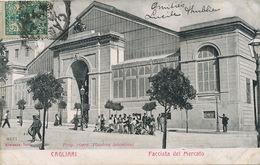 Cagliari Edit. Plantera Sebastiano 1904 Facciata Del Mercato Alterocca Terni - Cagliari
