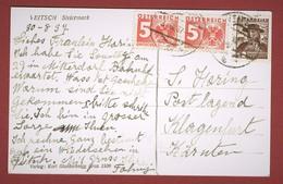 Postlagernd, Postkarte Nachporto  Klagenfurt 5+5 Gr 1937 - 1918-1945 1ère République