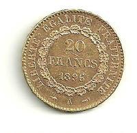 20 F Or GENIE 1896 A Faisceau - L. 20 Francs