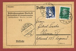 Postlagernd, Postkarte Nachporto  Wien 10 Gr  1931 - 1918-1945 1ère République