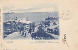VENEZIA-IL LIDO,PONTILE DI SBARCO-I TRAM (OMNIBUS)PER I BAGNI-CARTOLINA VIAGGIATA IL 18-5-1899 - Venezia (Venice)