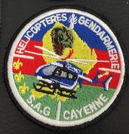 ECUSSON HELICOPTERES GENDARMERIE : SAG DE CAYENNE - Politie & Rijkswacht