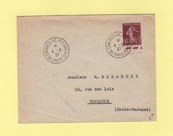 Congres Interntional De Philosophie - Paris - 4-8-1937 - Manual Postmarks