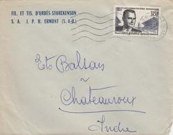 SEUL SUR LETTRE. 1957 LEO LAGRANGE  1120 - Storia Postale