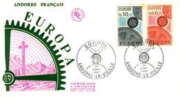 ANDORRA FRANCESE 1967 FDC Europa CEPT. - Storia Postale