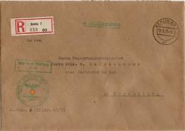 Reichsführer SS Einschreiben Mit Siegelmarke V. 11.03.1939 An Gruppenführer Freiherr Wilhelm Von Holzschuher - Germania