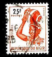 NIGER S6° 25f Orange Buste De Jeune Fille Djerma (10% De La Cote + 0,15) - Niger (1960-...)