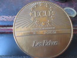 MEDAILLE - ECU - LES ECHOS - 1993- MARCHE UNIQUE EUROPÉEN- VOIR PHOTOS - Euros Of The Cities