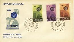 CIPRO 1967 FDC Europa CEPT.+2 - Cipro (Repubblica)