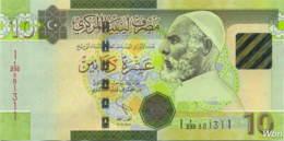 Libya 10 Dinars (P78Ab) 2011 -UNC- - Libië