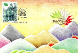 ITALIA - 1985 ROMA Esposizione Fil. ITALIA '85 Giornata Dell' UPU Su Cartolina Speciale - U.P.U.