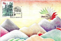ITALIA - 1985 ROMA Esposizione Fil. ITALIA '85 Giornata Della Gioventù Filatelica Su Cartolina Speciale - Esposizioni Filateliche