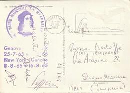 VIAGGIO INAUGURALE T/N RAFFAELLO 25/7/65*8/8/65 GIBRALTAR VIEW OF TOWN& HARBOUR - Piroscafi