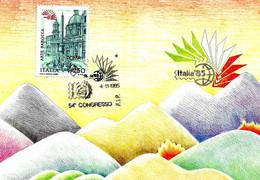 ITALIA - 1985 ROMA Esposizione Fil. ITALIA '85 54° Congresso FIP Su Cartolina Speciale - Esposizioni Filateliche