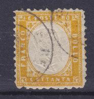 Italy 1862 Mi. 12     80c. König Viktor Emanuel II. Perf. 11½ X 12 (2 Scans) - 1861-78 Vittorio Emanuele II