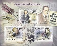 TOGO 2011 SHEET GERMAN CELEBRITIES VON GOETHE JOSEPH ADENAUER NIETZSCHE CELEBRITES ALLEMANDES Tg11504a - Togo (1960-...)
