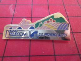 818C PIN'S PINS / Rare Et De Belle Qualité / THEME FRANCE TELECOM : D.O. PROVENCE ALPES - France Telecom