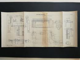 ANNALES PONTS Et CHAUSSEES - (Dep 59) Pont Levant De Wattrelos - Imp.A. Gentil 1910 (CLB62) - Travaux Publics
