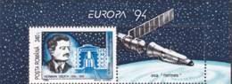 923  Hermann Oberth, Fusée, Navigation Interstellaire, Vol Spacial: Timbre 1994 - Rocket, Astronautics, Physics - Fysica